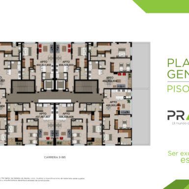 Planta General Piso 4,5,6